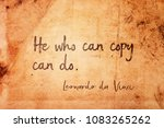 he who can copy can do  ... | Shutterstock . vector #1083265262