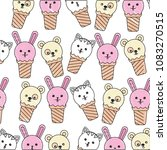 ice creams with faces of cute... | Shutterstock .eps vector #1083270515
