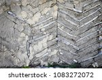 wall of an old house with... | Shutterstock . vector #1083272072