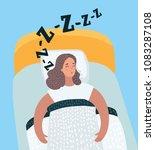 vector cartoon illustration of... | Shutterstock .eps vector #1083287108
