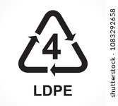 recycling symbols number 4 ldpe ... | Shutterstock .eps vector #1083292658