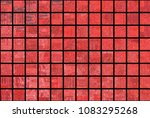 bright abstract mosaic red... | Shutterstock . vector #1083295268