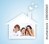 young family with a daughter... | Shutterstock . vector #108330065
