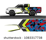 truck livery vector. abstract... | Shutterstock .eps vector #1083317738