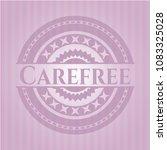 carefree pink emblem. retro | Shutterstock .eps vector #1083325028