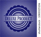 deluxe product denim background | Shutterstock .eps vector #1083325106