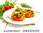 pepper sweet  stuffed with...   Shutterstock . vector #1083325292