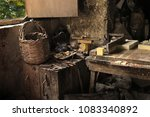 the interior of an old soap... | Shutterstock . vector #1083340892