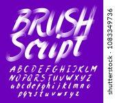hand drawn brush stroke...   Shutterstock .eps vector #1083349736