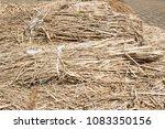 straw  dry straw  straw... | Shutterstock . vector #1083350156