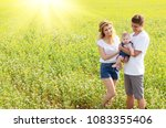 young happy family with their... | Shutterstock . vector #1083355406