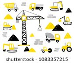 set of the construction... | Shutterstock .eps vector #1083357215