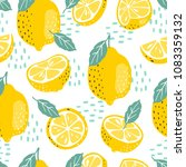 seamless summer pattern with... | Shutterstock .eps vector #1083359132