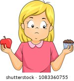 illustration of a kid girl... | Shutterstock .eps vector #1083360755
