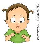 illustration of a kid girl... | Shutterstock .eps vector #1083360782