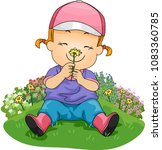 illustration of a kid girl... | Shutterstock .eps vector #1083360785