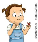 illustration of a kid girl with ...   Shutterstock .eps vector #1083360788