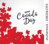 happy canada day vector... | Shutterstock .eps vector #1083361592