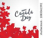 happy canada day vector... | Shutterstock .eps vector #1083361592