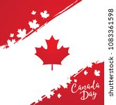 happy canada day vector... | Shutterstock .eps vector #1083361598