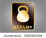 gold shiny badge with... | Shutterstock .eps vector #1083363356