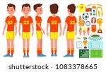 soccer player male vector.... | Shutterstock .eps vector #1083378665