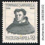 italy   circa 1968  stamp... | Shutterstock . vector #108338102