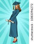woman college or university... | Shutterstock .eps vector #1083396272