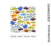 fish print   fish chub  goblin... | Shutterstock .eps vector #1083398492