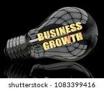 business growth   lightbulb on... | Shutterstock . vector #1083399416