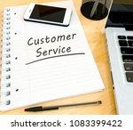 customer service   handwritten... | Shutterstock . vector #1083399422