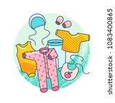 garments for infant kids....   Shutterstock .eps vector #1083400865