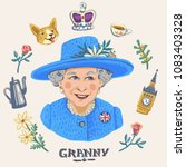 may 4 2018 england  her royal... | Shutterstock . vector #1083403328