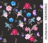 seamless musical magic pattern. ... | Shutterstock .eps vector #1083403862