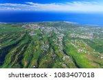 reunion island aerial view.... | Shutterstock . vector #1083407018