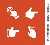 set of 4 gestures filled icons...   Shutterstock .eps vector #1083415838