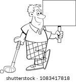black and white illustration of ... | Shutterstock .eps vector #1083417818