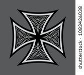 maltese cross with pattern... | Shutterstock .eps vector #1083426038