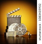 cinema  movie production and... | Shutterstock . vector #1083435932