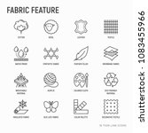 fabric feature thin line icons... | Shutterstock .eps vector #1083455966
