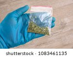 sachet of synthetic smoking... | Shutterstock . vector #1083461135