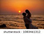 bride and groom  newlyweds ... | Shutterstock . vector #1083461312