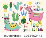 save the drama for your llama.... | Shutterstock .eps vector #1083462446
