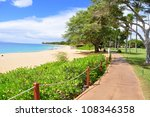Kaanapali Beach Boardwalk On...