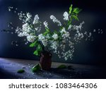 still life with flowers. vinage.... | Shutterstock . vector #1083464306