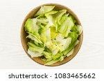 iceberg lettuce table top fresh ... | Shutterstock . vector #1083465662