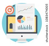flat design icon of web... | Shutterstock .eps vector #1083474005