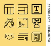 set of 9 word outline icons... | Shutterstock .eps vector #1083480332