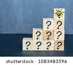 many question marks written on... | Shutterstock . vector #1083483596