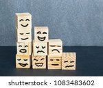 different emotions drawn on... | Shutterstock . vector #1083483602